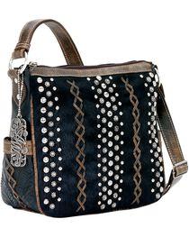 American West River Rock Black Hair-on-Hide Crossbody Handbag, , hi-res