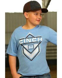 Cinch Boys' Lead Don't Follow T-Shirt, Blue, hi-res