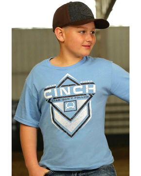 Cinch Boys' Lead Don't Follow T-Shirt, Blue, hi-res