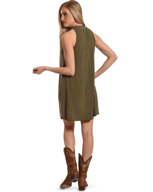 Derek Heart Women's Olive Mock Neck Dress , Olive, hi-res