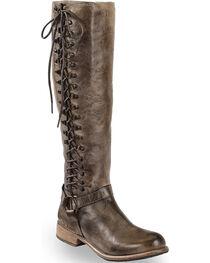 Bed Stu Women's Burnley Knee High Corset Boots - Round Toe, , hi-res
