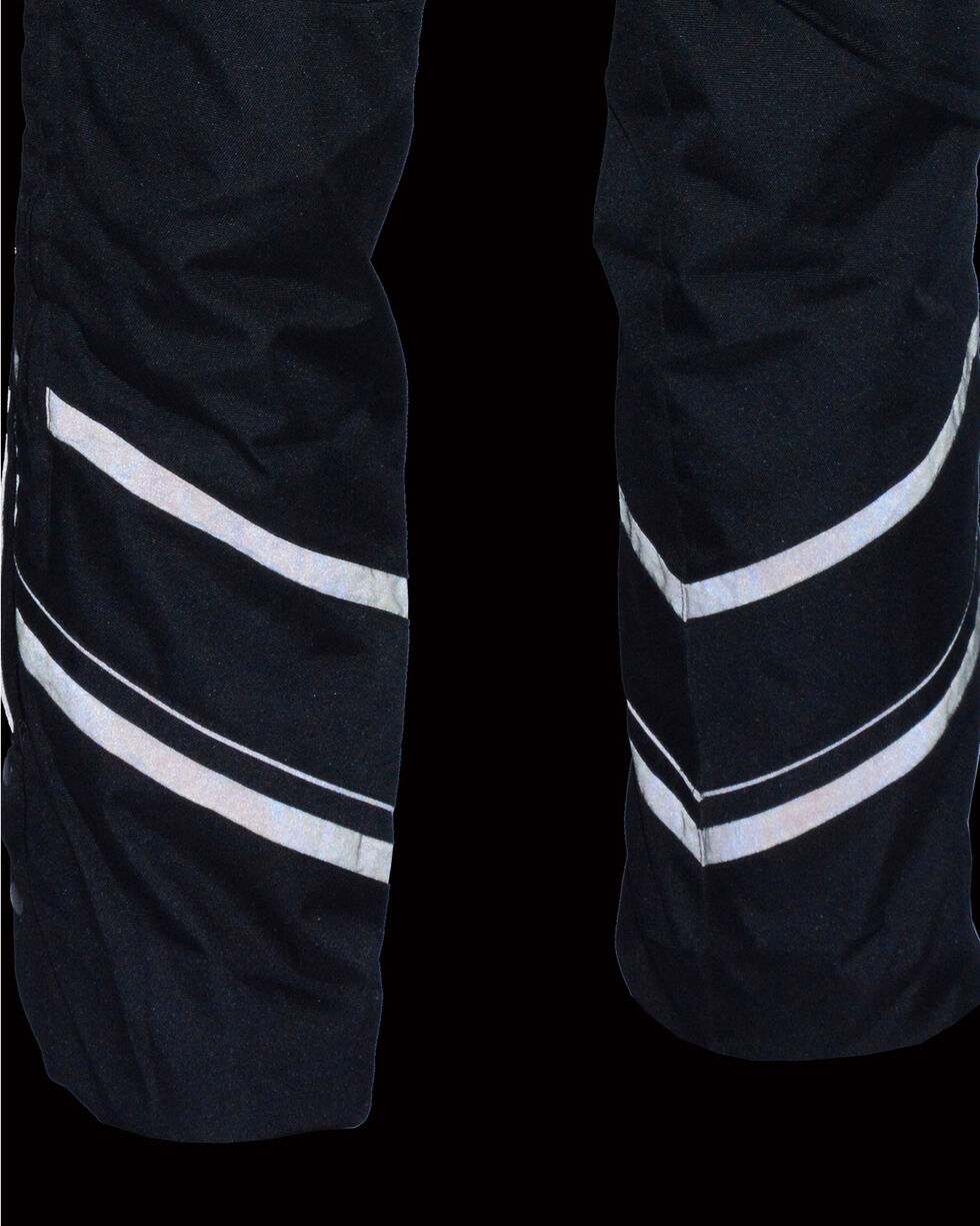 Milwaukee Leather Men's Thermal Lined Vented Textile Chaps - 4X, Black, hi-res