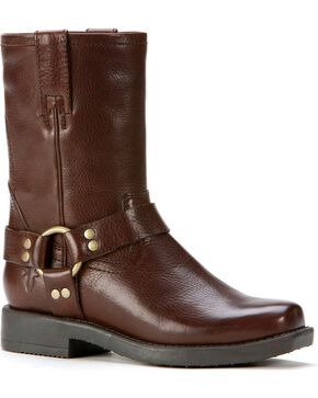 Frye Boys' Harness Pull-On Boots, Dark Brown, hi-res