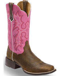 Ariat Women's Tombstone Passion Pink Western Boots - Square Toe, , hi-res