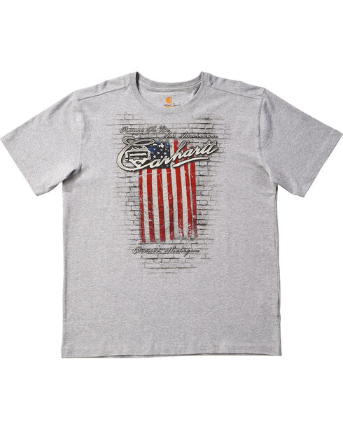 Carhartt Men's Proud To Be An American Short Sleeve T-Shirt, Grey, hi-res