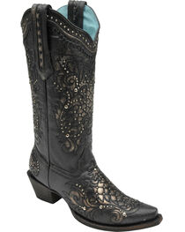 Corral Women's Metallic Quilted Western Boots, , hi-res