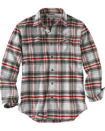 Carhartt Men's Hubbard Plaid Long Sleeve Shirt, , hi-res