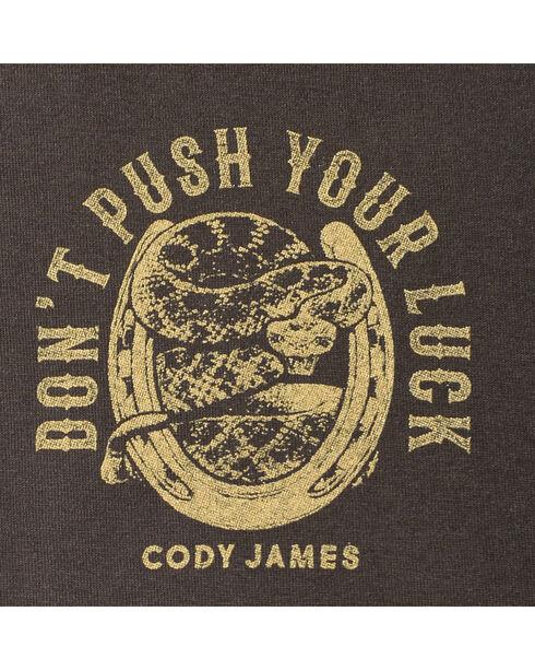 Cody James® Men's Don't Push Your Luck T-Shirt, Black, hi-res