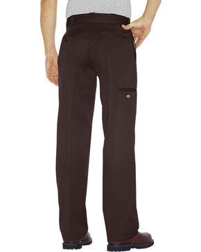Dickies Men's Loose Fit Double Knee Work Pants, Dark Brown, hi-res