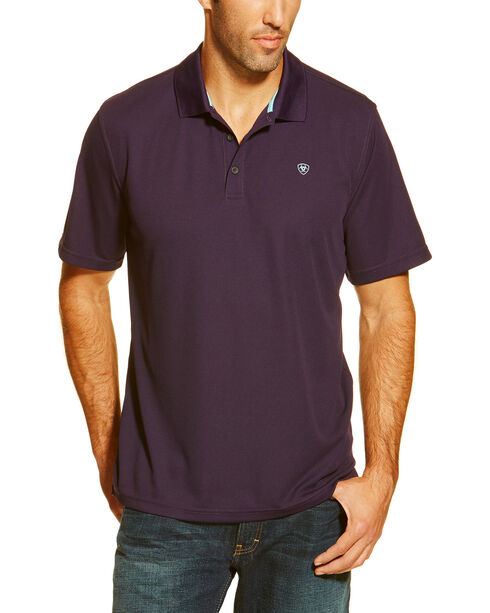 Ariat Men's Tek SPF Short Sleeve Polo, Multi, hi-res