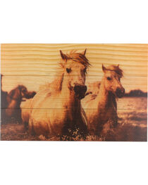 BB Ranch Wooden Sepia Toned Horses Wall Decor, , hi-res