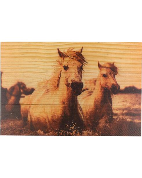 BB Ranch Wooden Sepia Toned Horses Wall Decor, No Color, hi-res