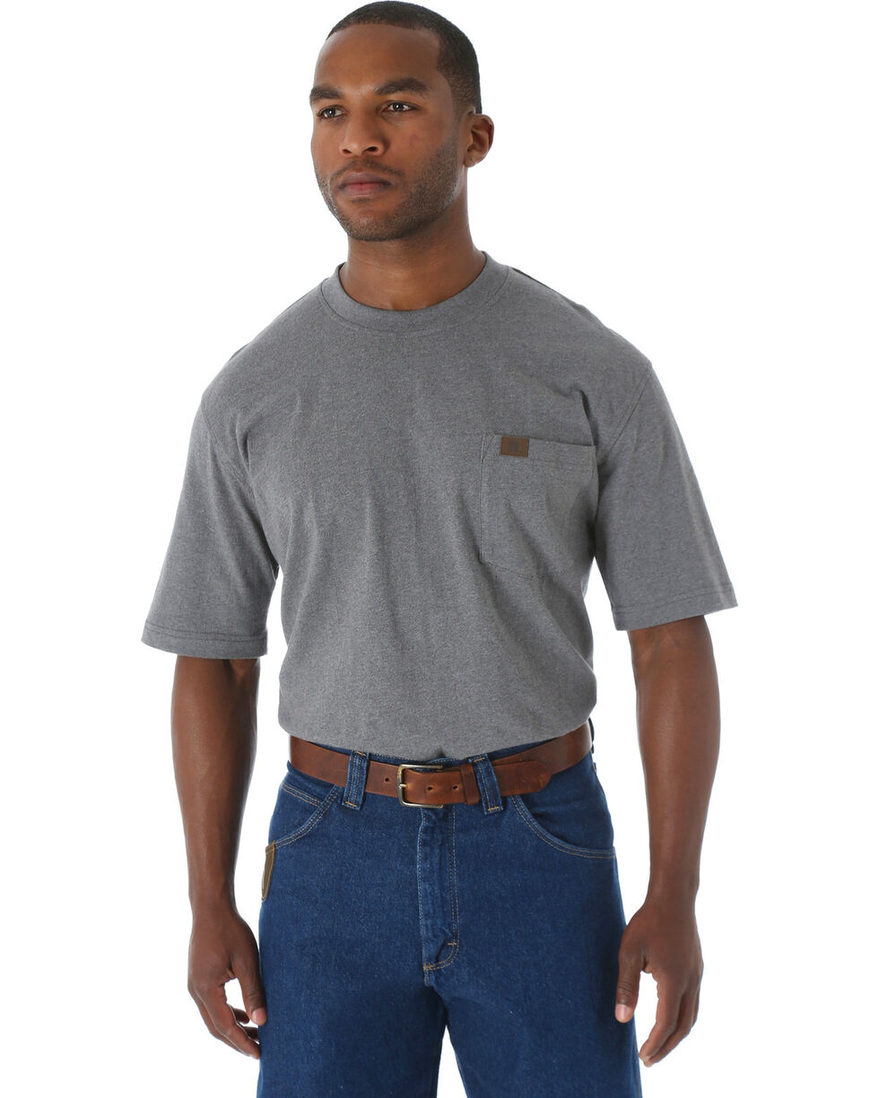 Riggs Workwear Men's Short Sleeve Pocket T-Shirt, Charcoal Grey, hi-res