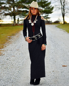 Tasha Polizzi Women's Statement Dress , Black, hi-res