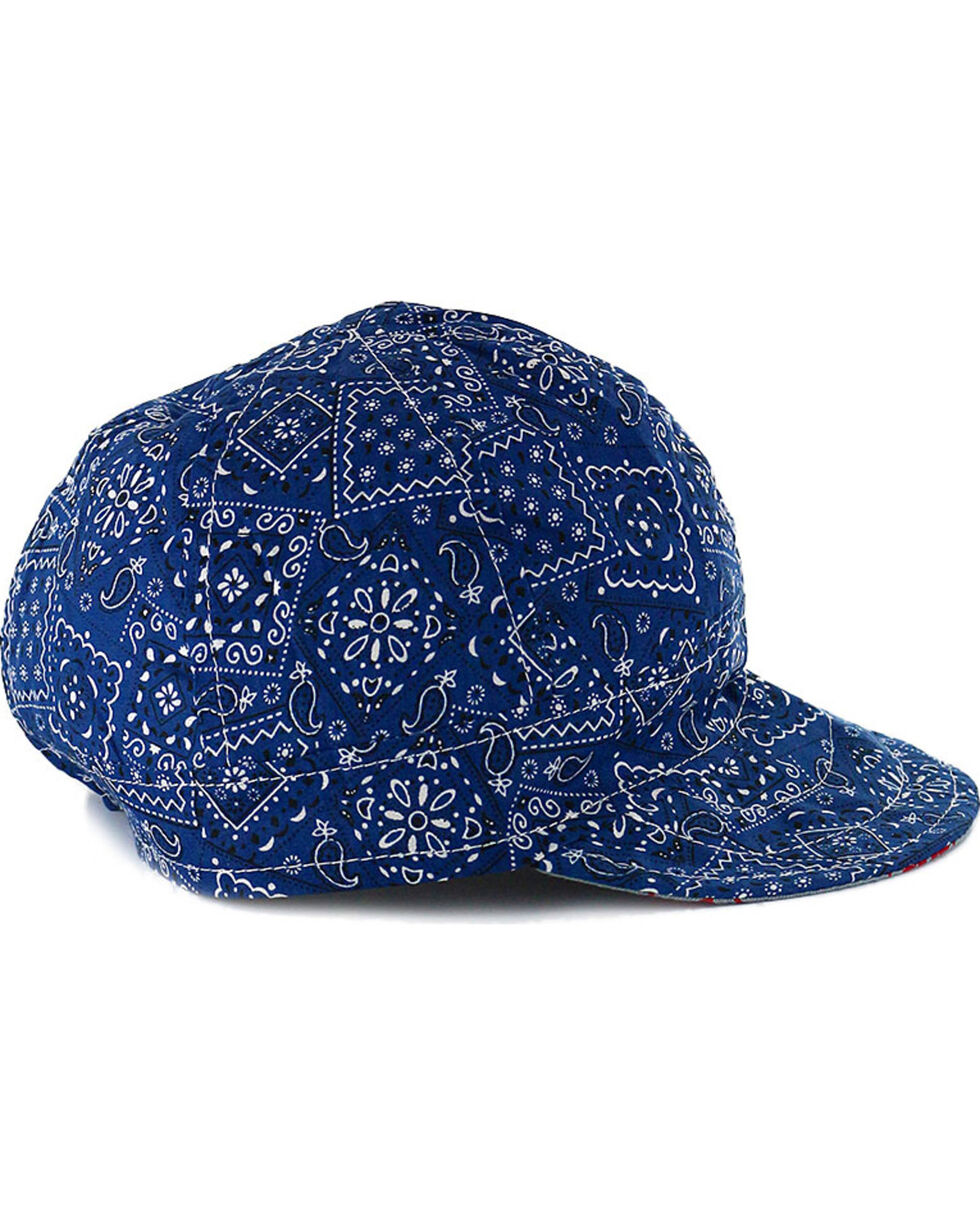 American Worker Men's Paisley Blue Welding Cap, Blue, hi-res