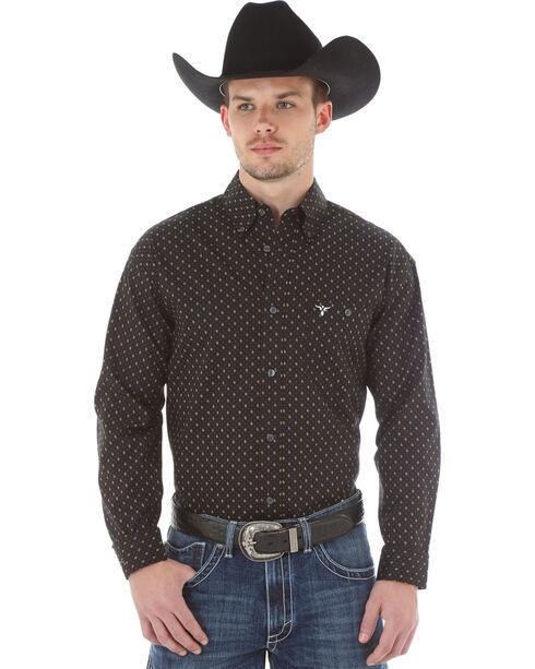 Wrangler 20X Men's Geo Printed Long Sleeve Shirt, Black, hi-res