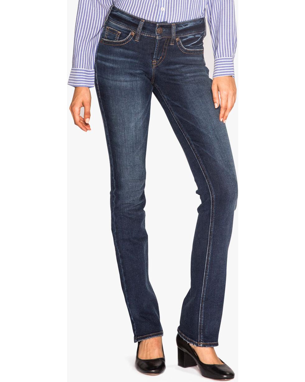 Silver Women's Suki Slim Boot Cut Jeans, Indigo, hi-res