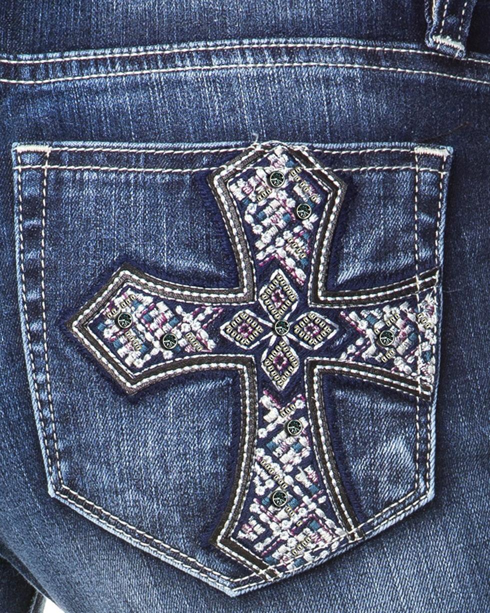 Miss Me Women's Indigo Cross Pocket Jeans - Boot Cut , , hi-res