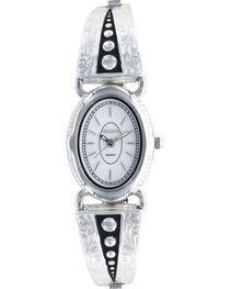 Montana Silversmiths Women's Silver Pin Points Watch, , hi-res