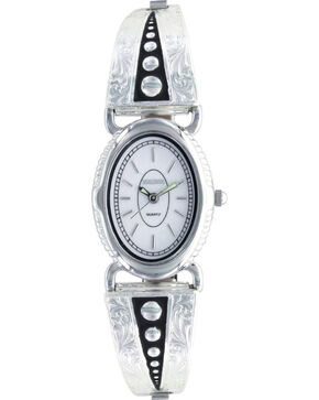 Montana Silversmiths Women's Silver Pin Points Watch, Silver, hi-res