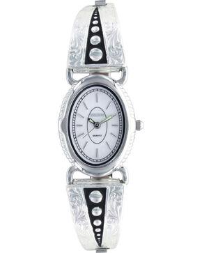 Montana Silversmiths Women's Silver Pin Points Watch, Silver, hi-res