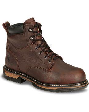 Rocky Men's Branson Steel Toe Western Boots, Bridle Brn, hi-res