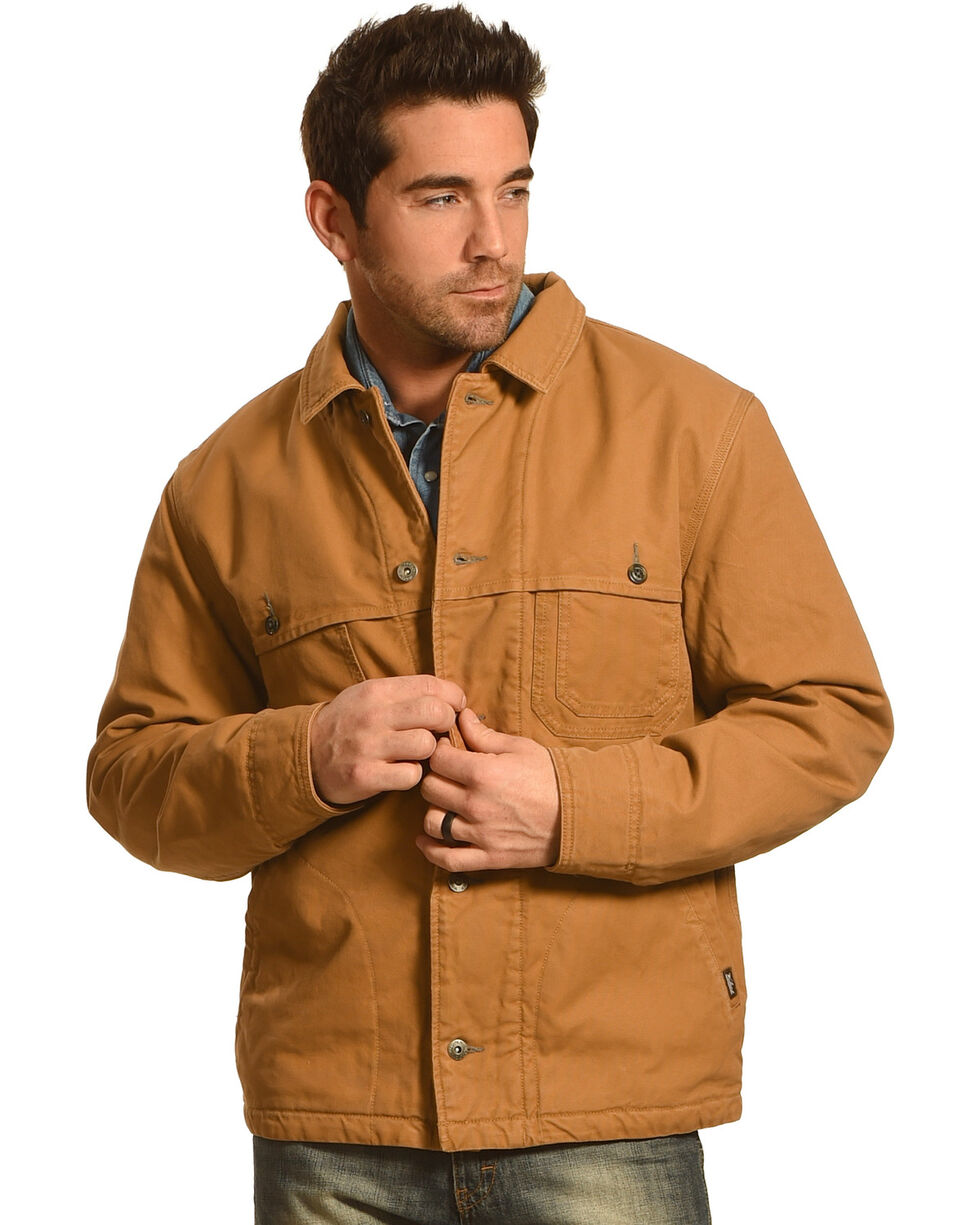 Woolrich Men's Centerpost Wool-Lined Jacket, Coffee, hi-res