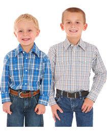 Wrangler Boys' Assorted Wrinkle Resistant Shirt , , hi-res