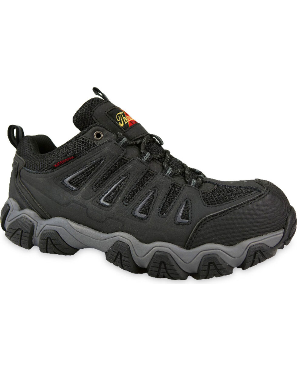 Thorogood Men's Waterproof Athletic Work Shoes - Composite Toe, Black, hi-res
