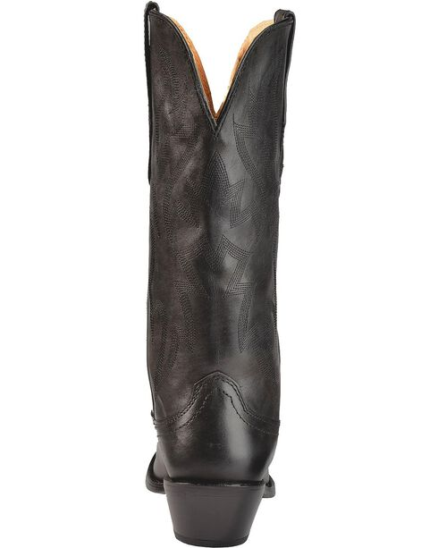 Nocona Women's Deertanned Snip Toe Western Boots, Black, hi-res