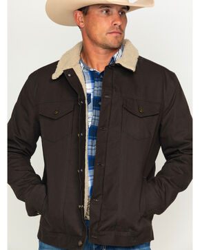 Cody James Men's Freight Liner Canvas Jacket, Brown, hi-res