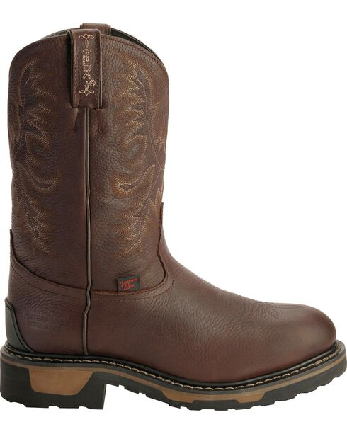 Tony Lama Men's TLX Steel Toe Round Toe Western Work Boots, , hi-res