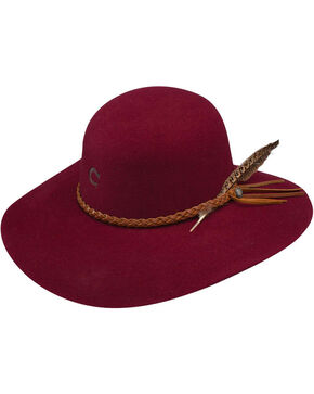Charlie 1 Horse Women's Burgundy Free Spirit Wool Hat, Burgundy, hi-res
