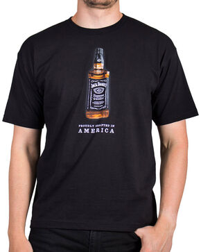 Jack Daniel's Men's Full Color Bottle Short Sleeve T-Shirt, Black, hi-res
