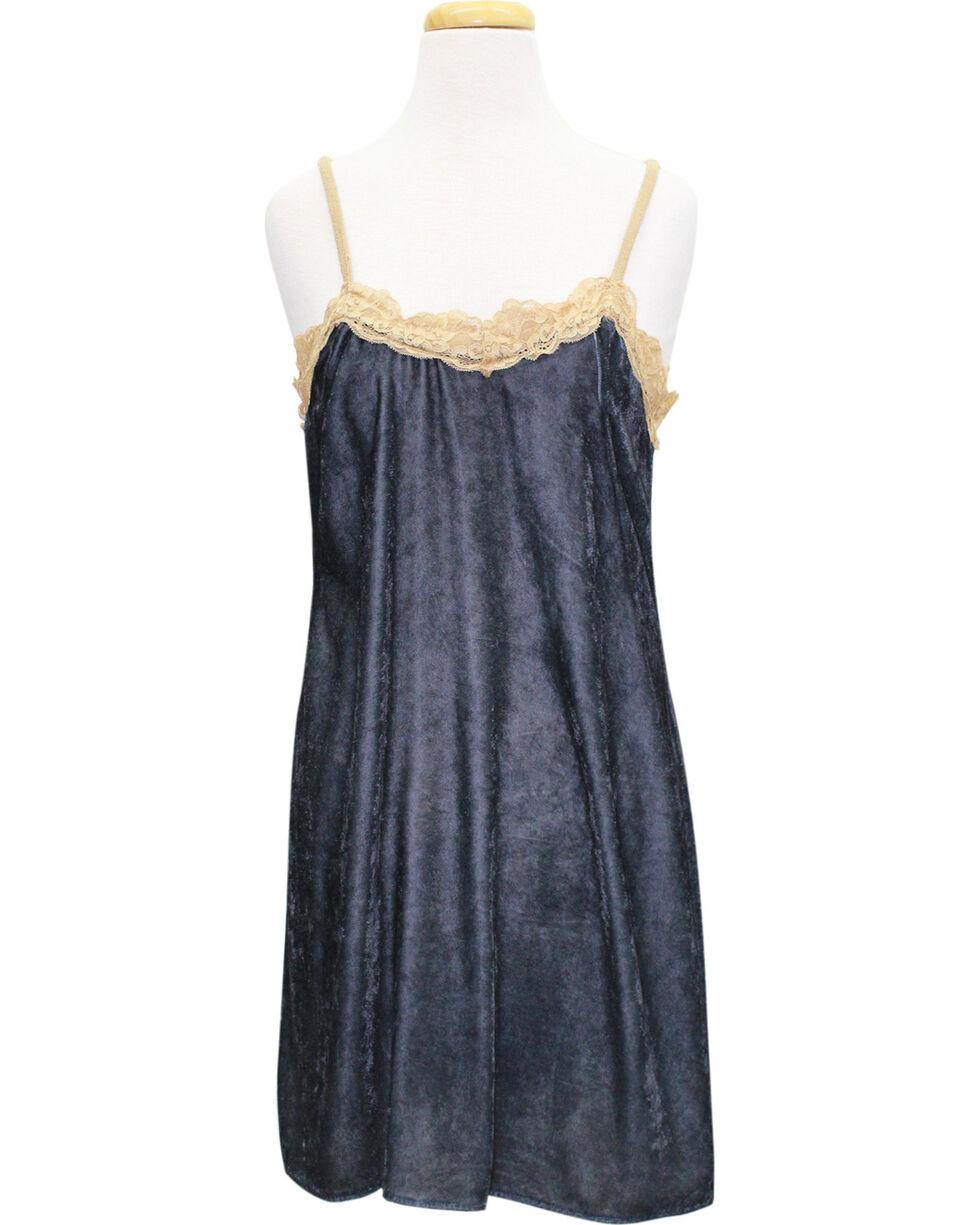 Aratta Women's Star Velvet Mini Dress, Charcoal, hi-res