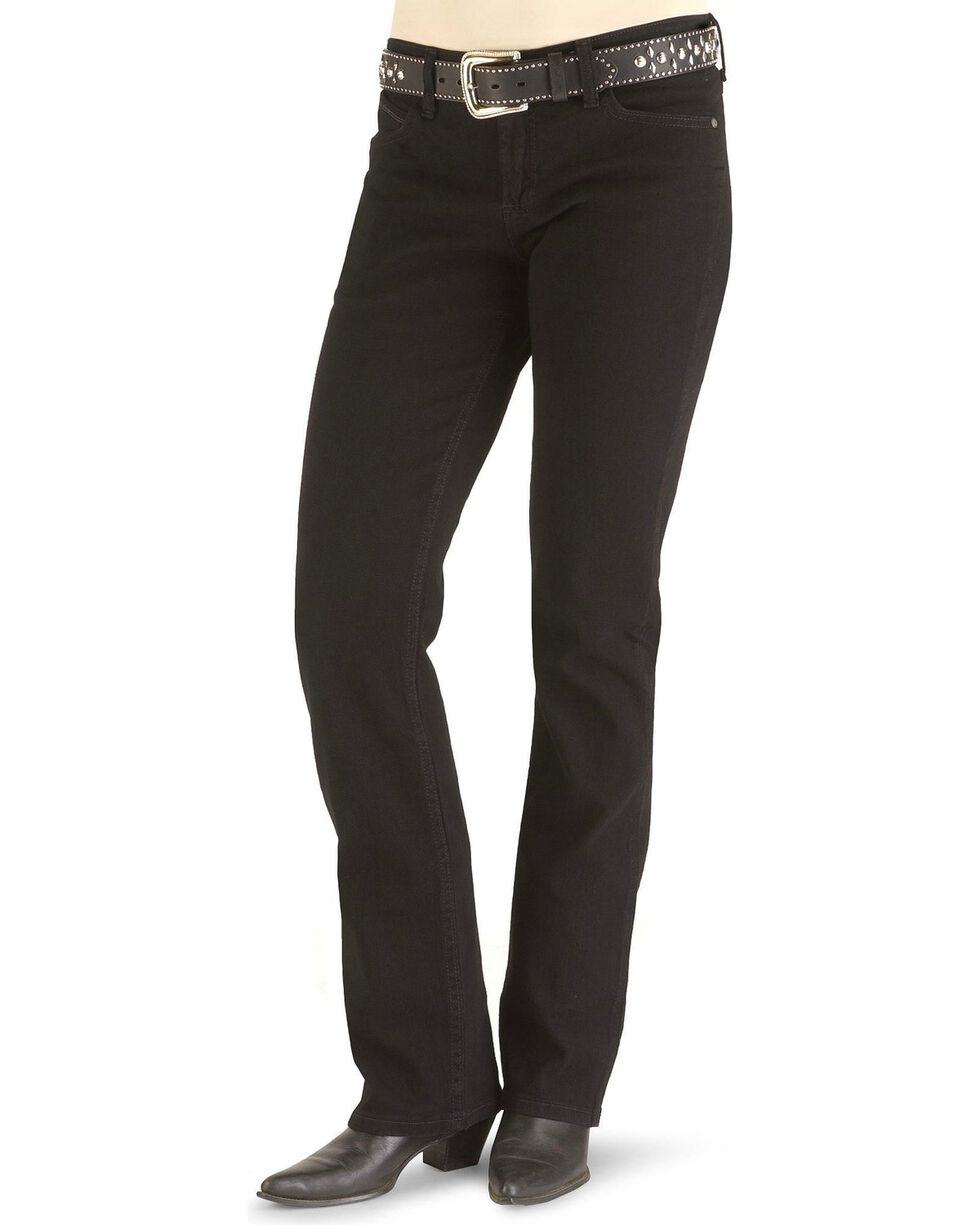 Wrangler Women's Q-Baby Mid Rise Cowgirl Cut Ultimate Riding Jeans, Blk Magic, hi-res