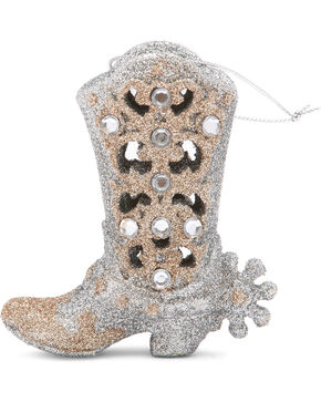 BB Ranch Fancy Glitter Boot Ornament, No Color, hi-res