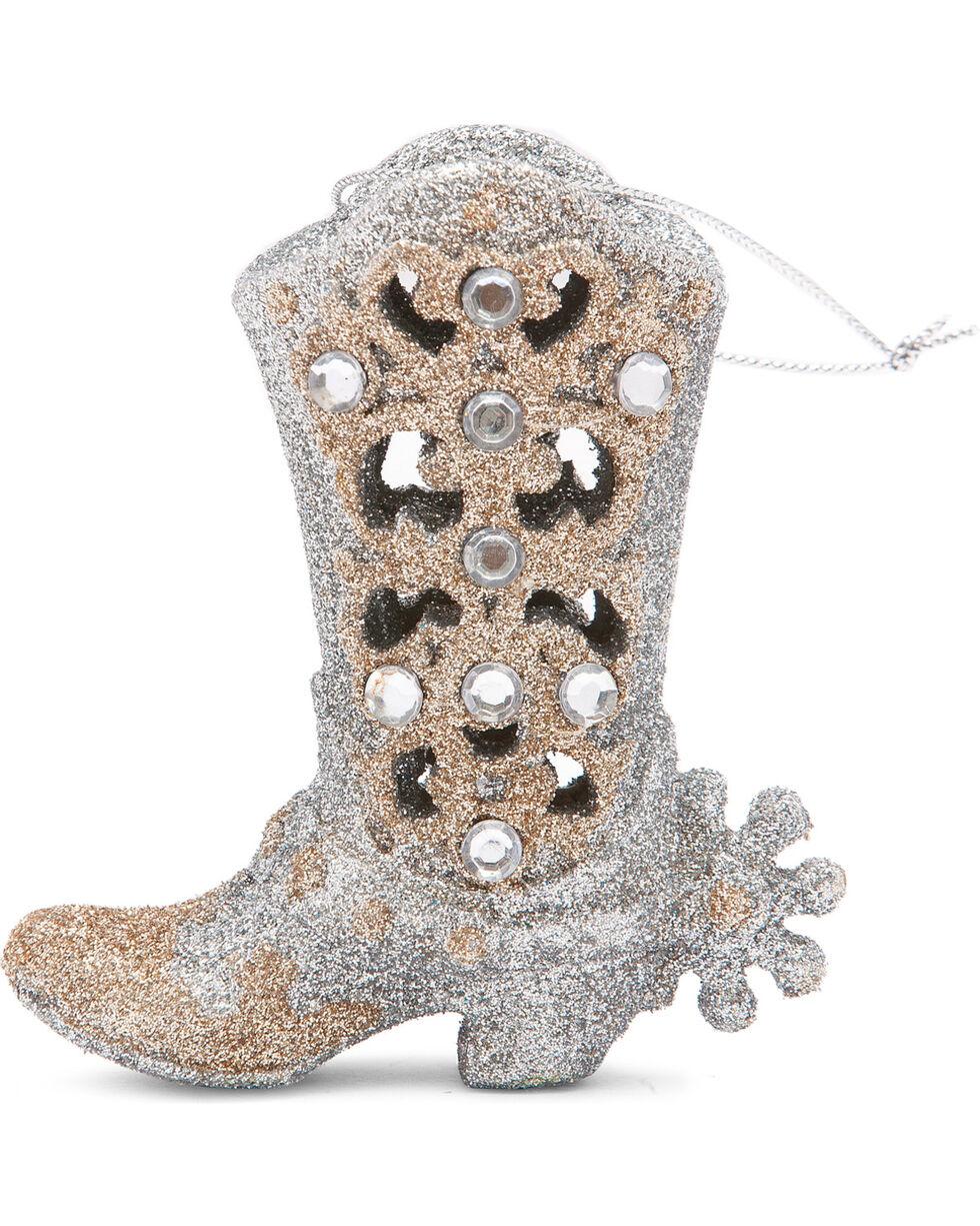 BB Ranch Fancy Glitter Boot Ornament, No Color, hi-res