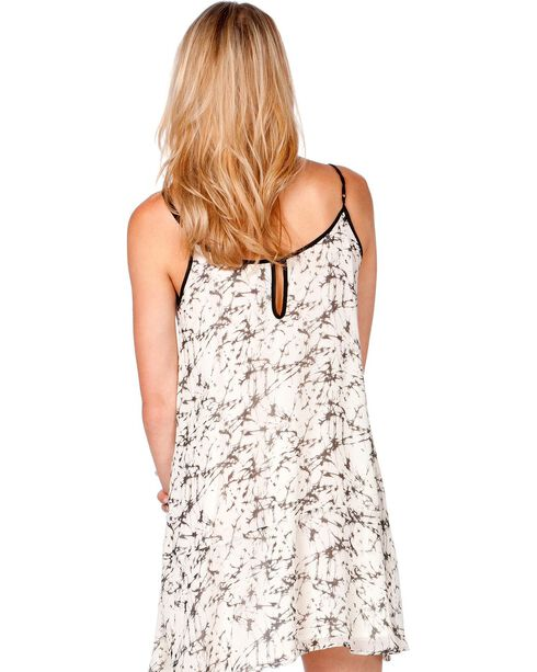 Miss Me Beaded Printed Dress, Off White, hi-res