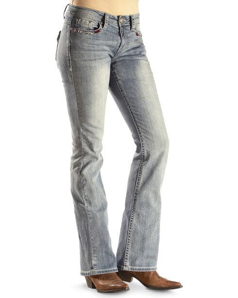 Shyanne® Women's Anne Mid-Rise Boot Cut Jeans , , hi-res