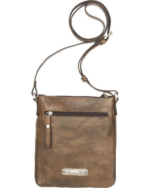 American West Women's Native Sun Crossbody Bag/Wallet, Brown, hi-res
