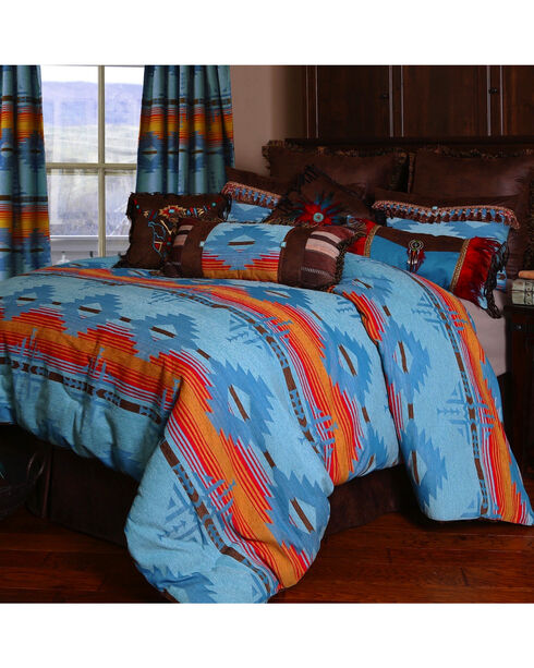 Carstens Arizona King Bedding - 5 Piece Set, Turquoise, hi-res