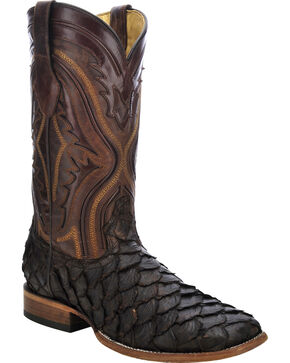 Corral Men's Pirarucu Exotic Boots, Chocolate, hi-res