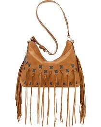 American West Women's River Ranch Slouch Zip Top Shoulder Bag, , hi-res
