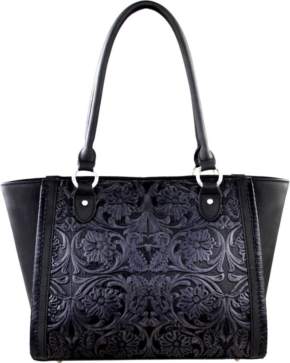 Montana West Black Delila 100% Genuine Leather, Black, hi-res