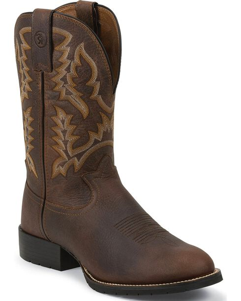 Tony Lama Men's Pitstop Stockman Western Boots, Brown, hi-res