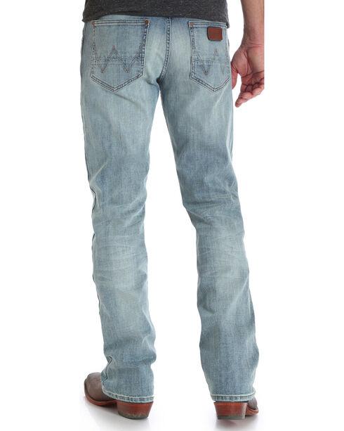 Wrangler Men's Indigo Retro Slim Fit Jeans - Boot Cut , Indigo, hi-res