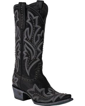 Lane Women's Saratoga Stud Cowgirl Boots - Snip Toe, Tan, hi-res
