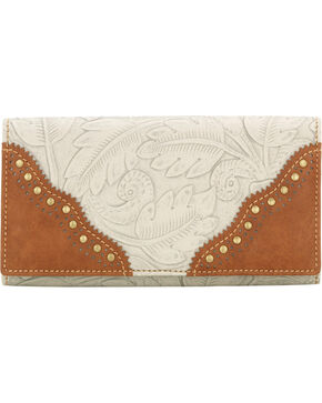 Bandana Women's Castle Rock Flap Wallet, Cream, hi-res