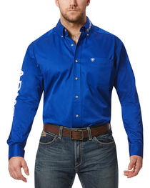 Ariat Men's Team Logo Long Sleeve Twill Shirt, , hi-res